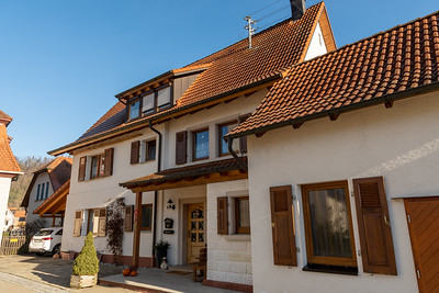 Homes in the little town of Sulzau, Germany.