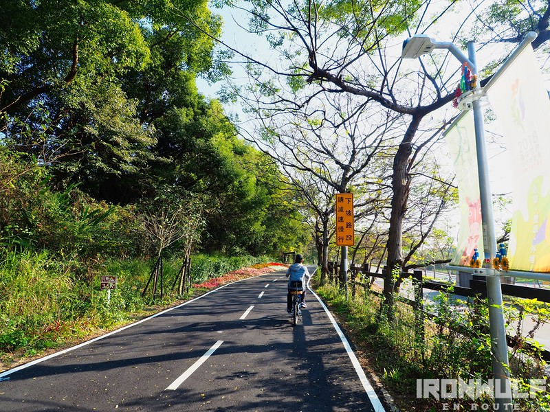 Running parallel the main road