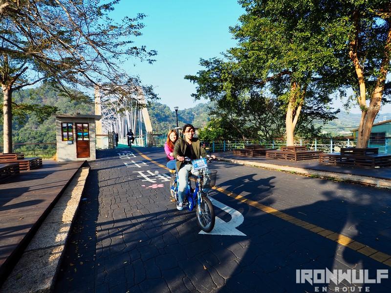 Biking after the bridge