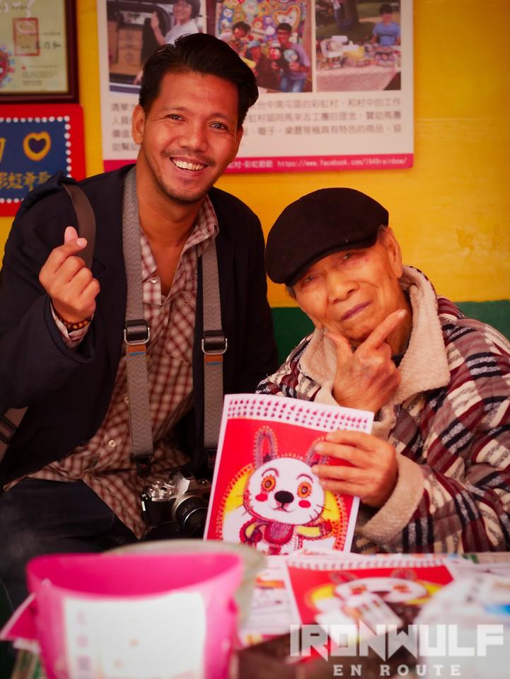 Photo with the 96yo, Grandpa Rainbow