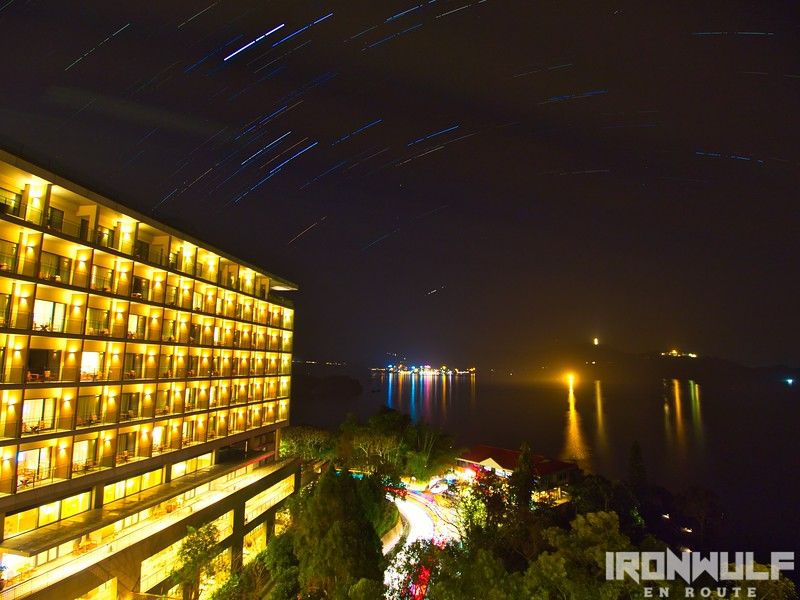 Mini star trails at the balcony