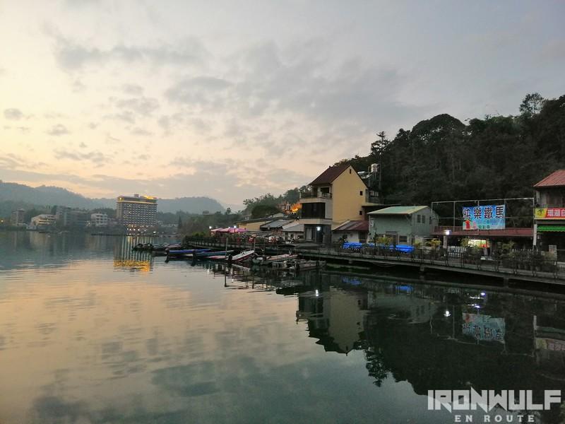 Sundown at Shuishe Pier plaza