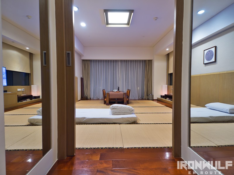 Sliding door leading to the tatami-floored room
