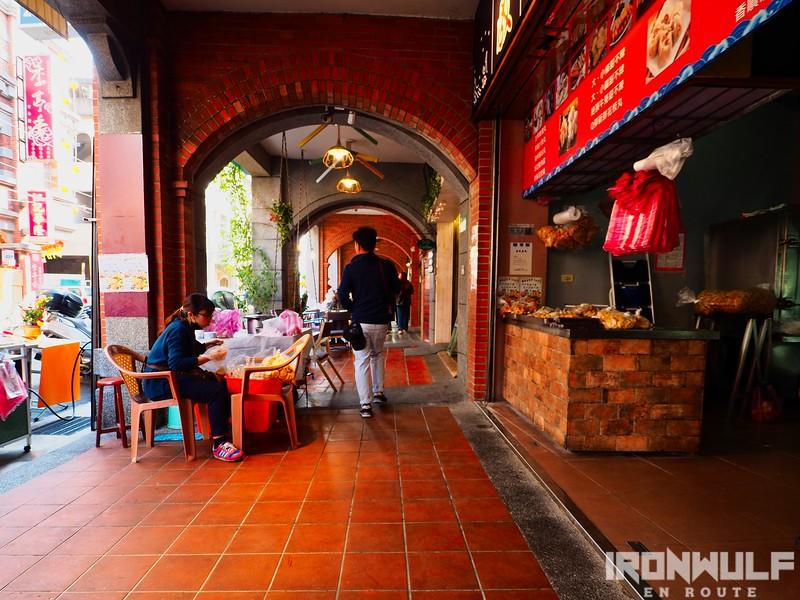 Old brick hallway at Dihua