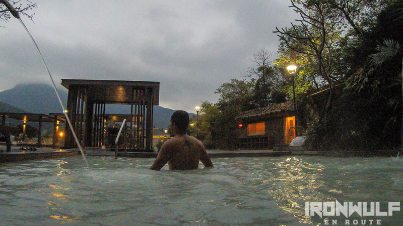 Outdoor hot spring pools