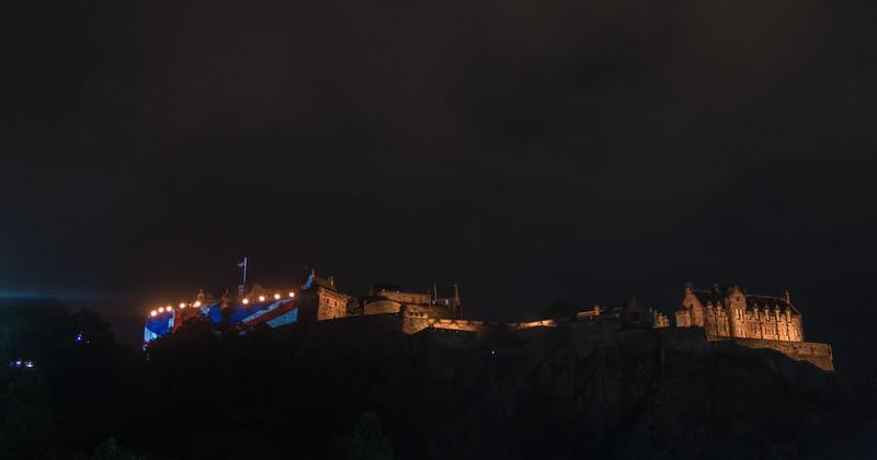 Edinburgh Tattoo - Edinburgh Castle - from Princess Street (August 2019)
