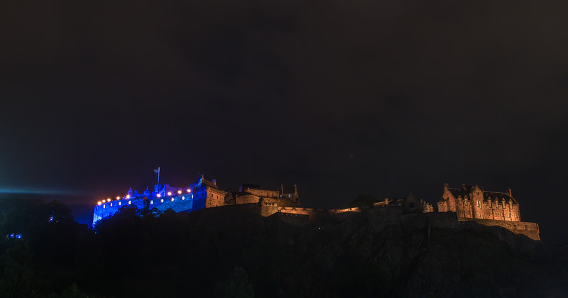 Edinburgh Tattoo - Edinburgh Castle - from Princess Street (August 2019)
