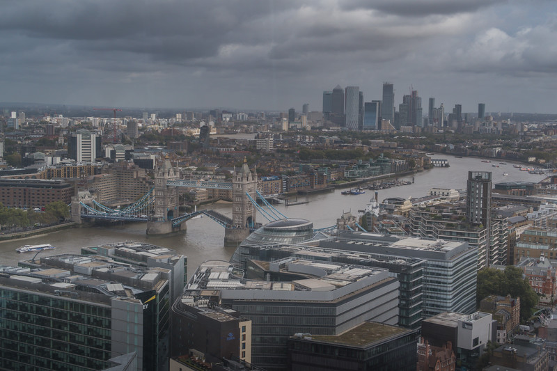 London from the Aqua Shard - 31st Floor - The Shard - London (October 2019)