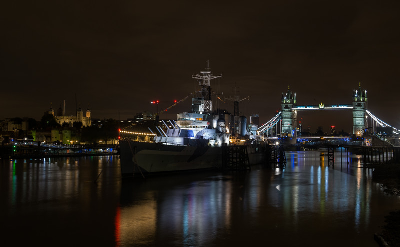 HMS Belfast - Tower of London & Tower Bridge - River Thames - London (October 2019)