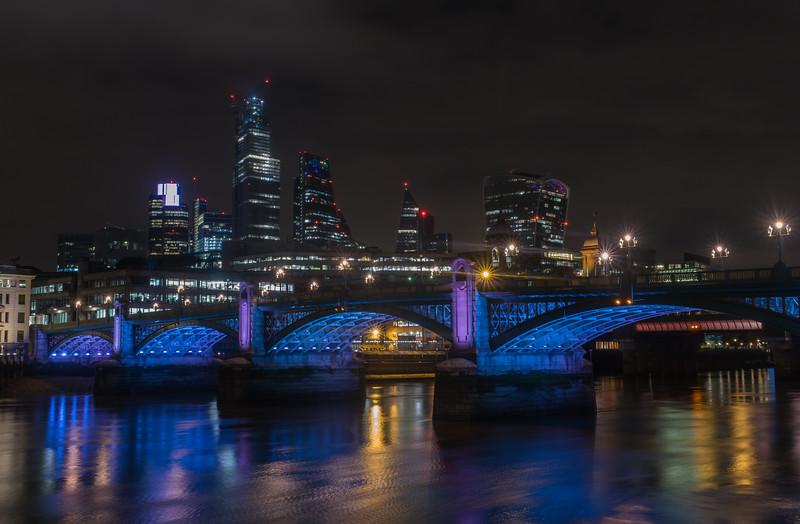 Southwark Bridge - River Thames - London (October 2019)