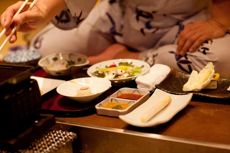 登別温泉 玉の湯別館の夕ごはん - Noboribetsu, Hokkaido, July 2010