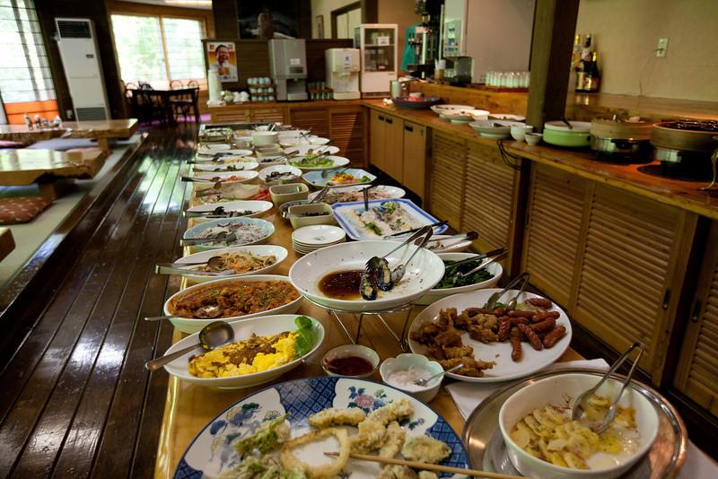 養老牛温泉だいいち朝ごはん - Yoroushi Spa, Hokkaido, July 2010