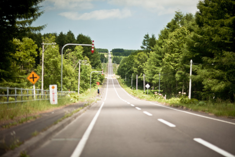 Driving from Yoroushi Spa to Shiretoko - Hokkaido, Japan, July 2010