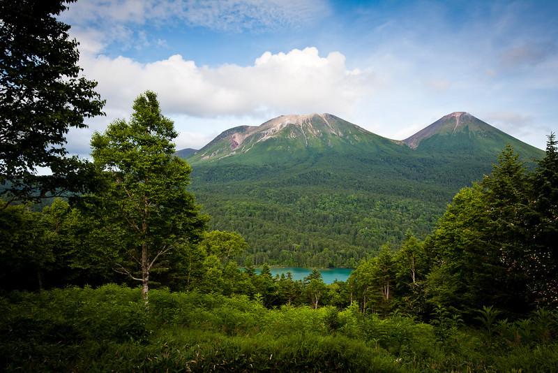 オンネトー展望台から - Lake Onneto, Hokkaido, July 2010