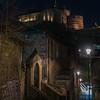 Edinburgh Castle from the Vennel Steps (February 2020)
