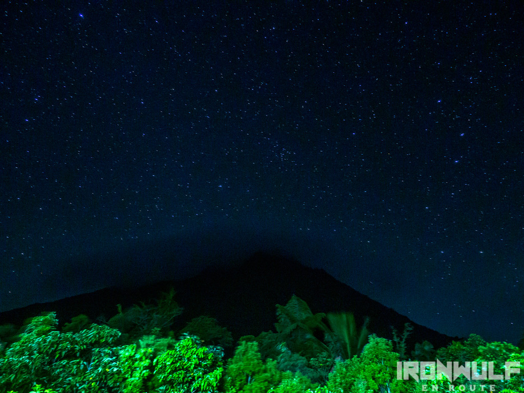 Mt Hibok-hibok under the stars