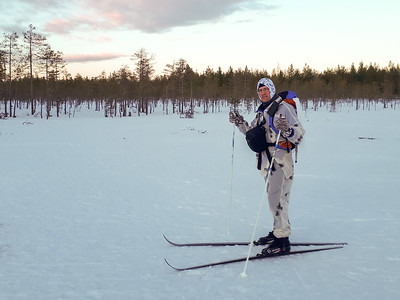 David out on a hunt for grouse, outside Oulu Finland.