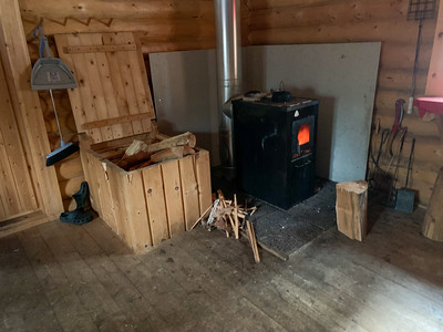 Features of a national-park cabin outside Oulu, Finland.
