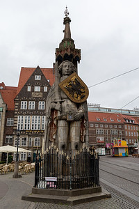 Bremer Roland, 15th c. statue in Bremen's main square.