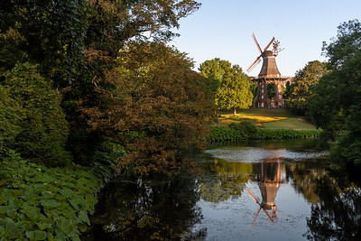 Windmill in Bremen, seen from the old Bremen moat.