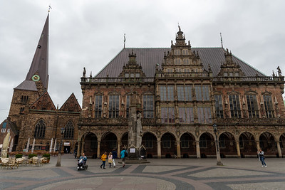 Rathaus, in the main square, Bremen.