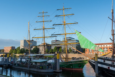 "The tall ship ""Alexander von Humbolt"", our hotel in Bremen."