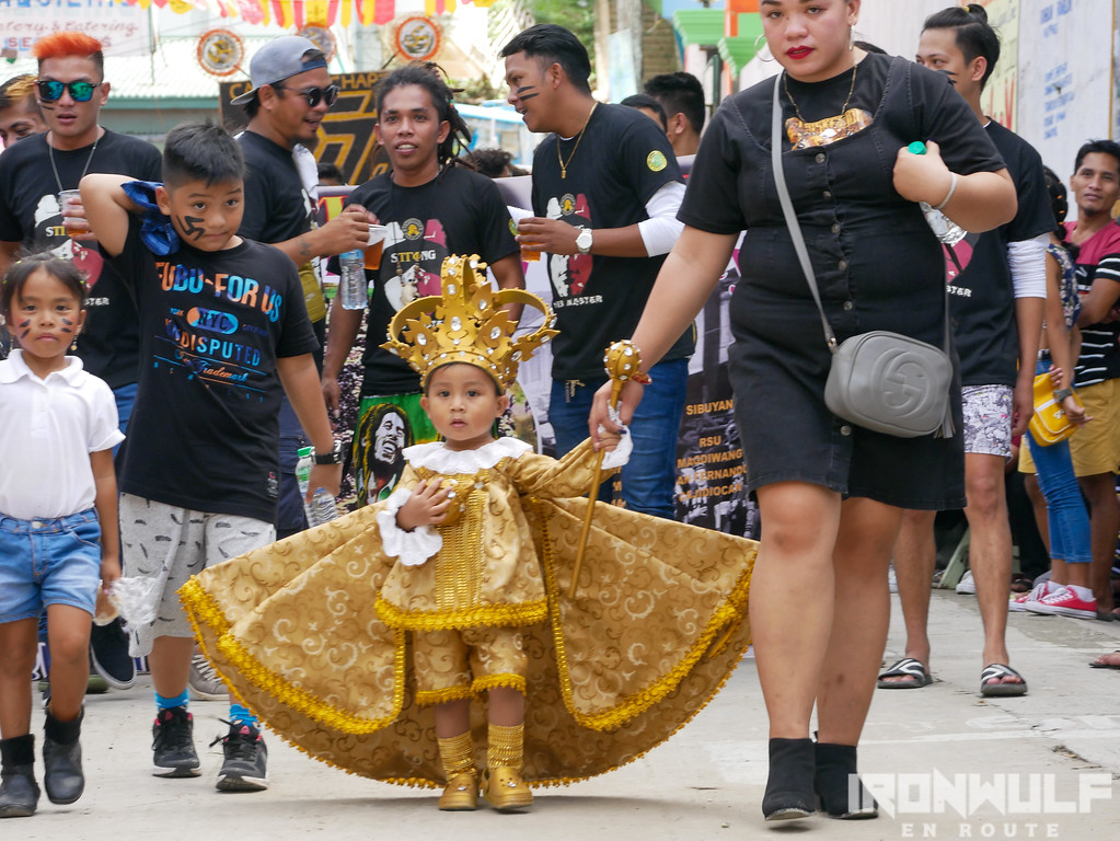 A young Sto Niño adored the crowd