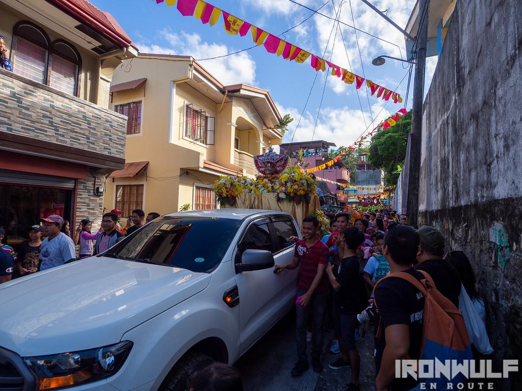 The Sto Niño de Romblon leading the parade