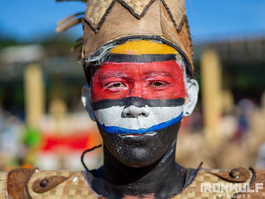 Colorful face paint