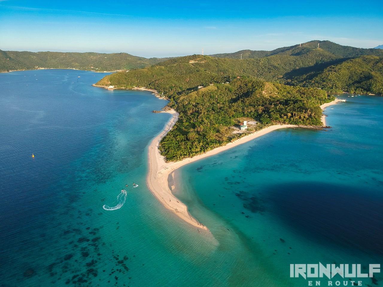 Bonbon Beach sandbar