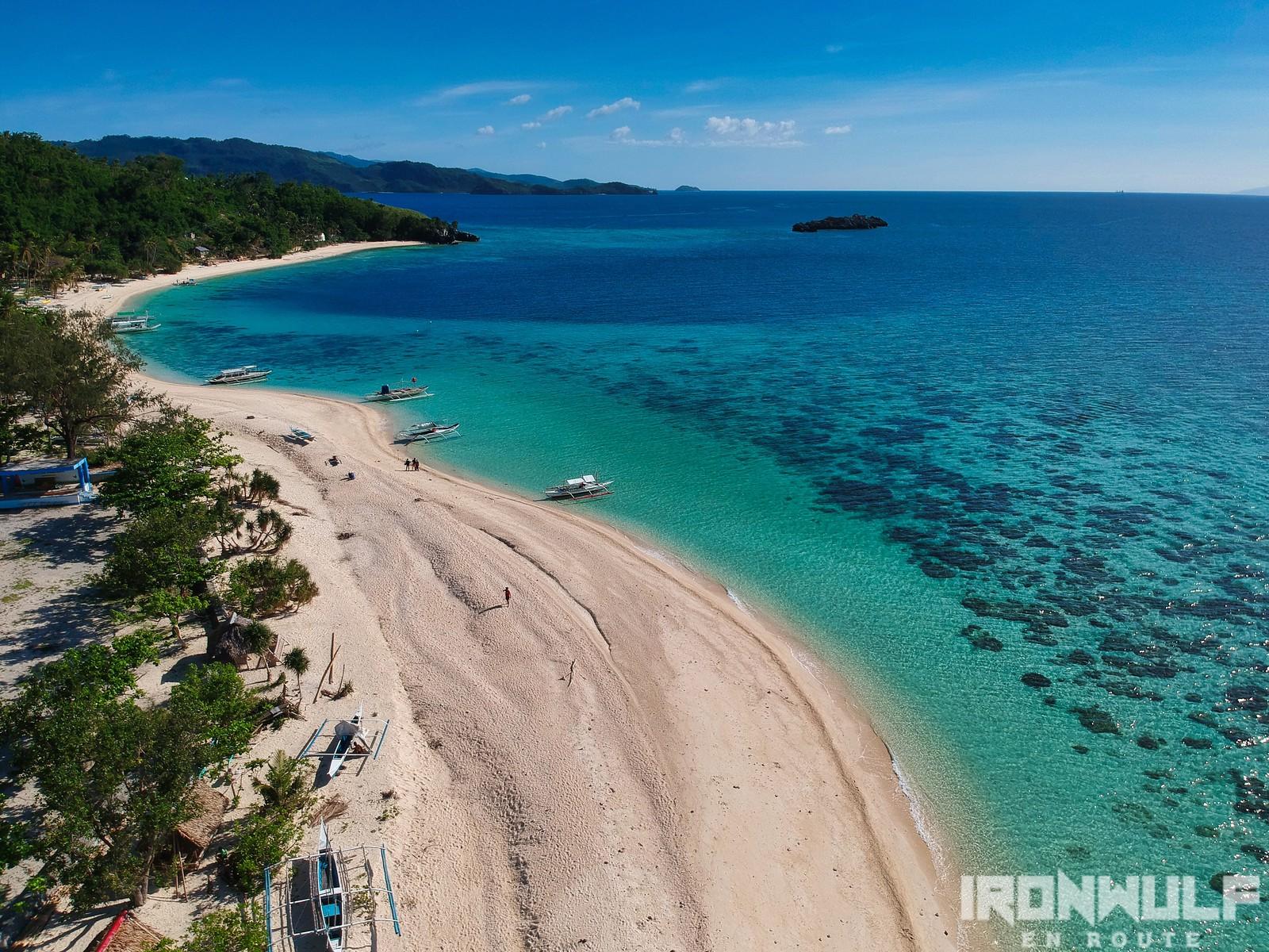 Stretch of beach at Cobrador Island