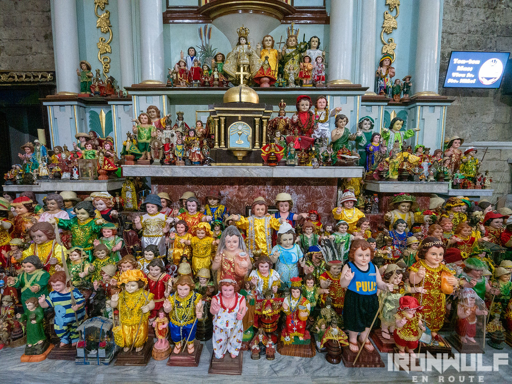 Sto Niño images in the church