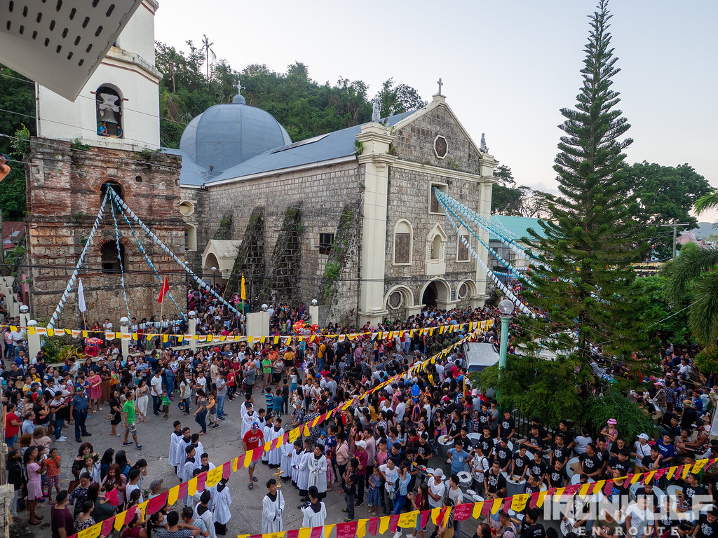 Devotees gather by St Joseph Cathedral