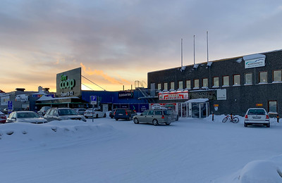 Shopping center in Kiruna.