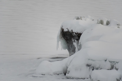 A rocky promentory on Lake Torneträsk, Abisko.