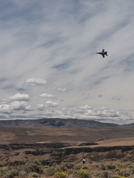 F/A-18 over the Columbia