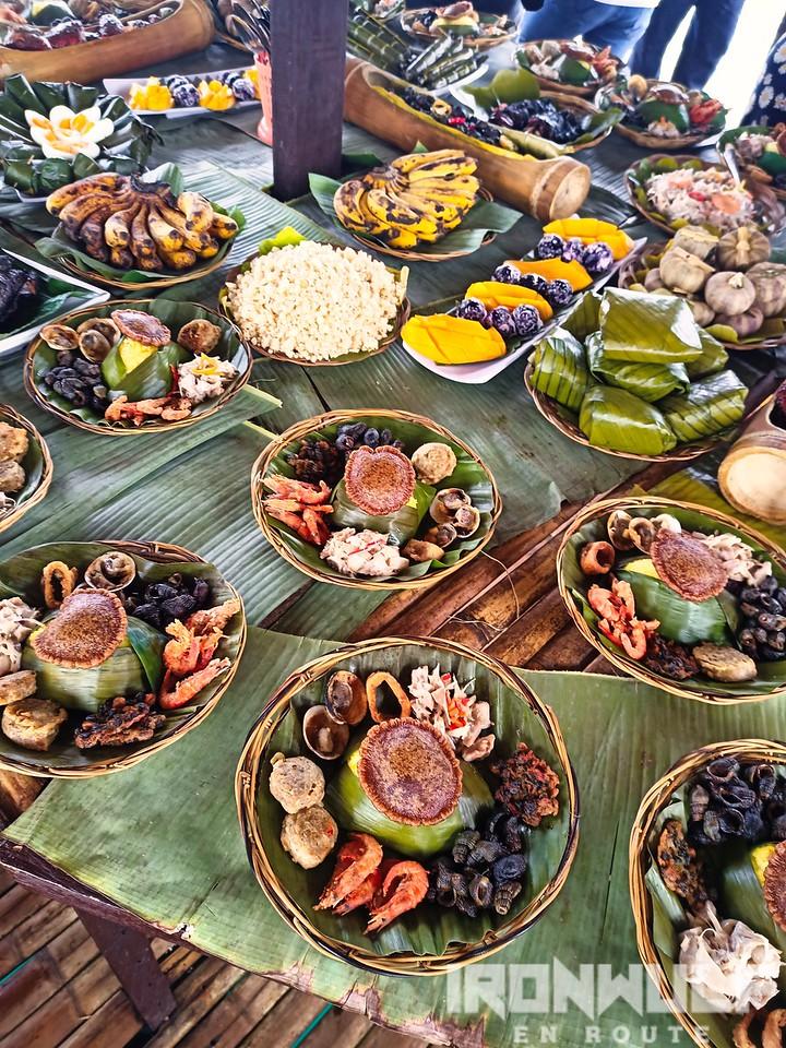 Seafood spread prepared by the Sama Banguingui at the Marang-marang floating cottage