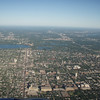 Minneapolis city lakes from the plane