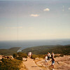 Atop Cadillac Mountain, looking out over the Atlantic. If you're up here at sunrise, you're the first person in the US to see the sunrise.
