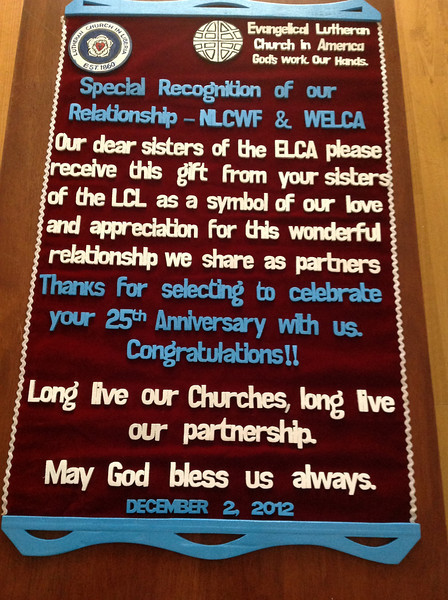 Declaration of the Women of the ELCA and the National Lutheran Church Women Fellowship of Liberia longstanding partnership.