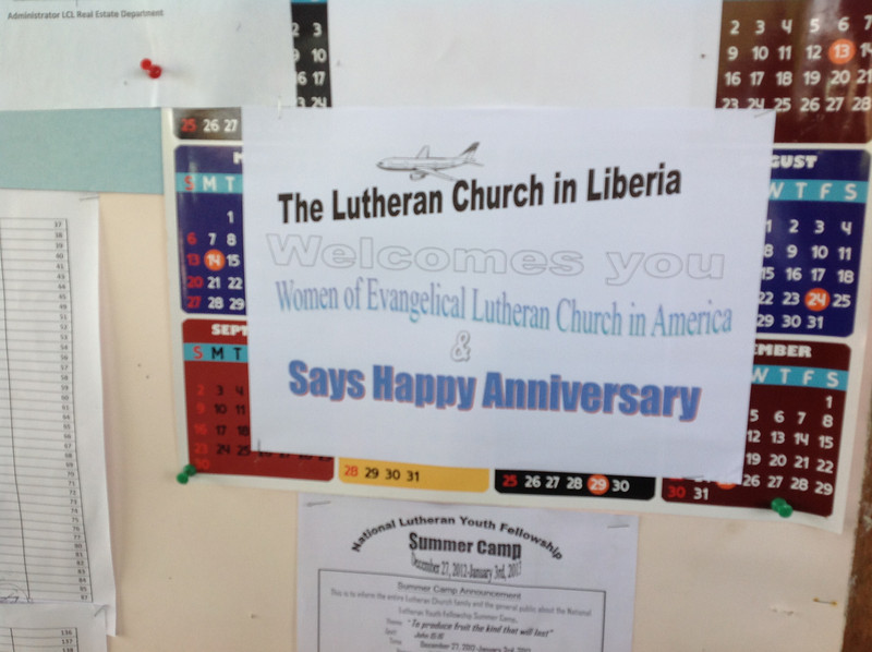 The Lutheran Church in Liberia (national offices) welcomed Women of the ELCA.