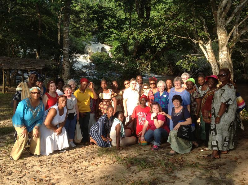 The group at Kpatawee Water Falls
