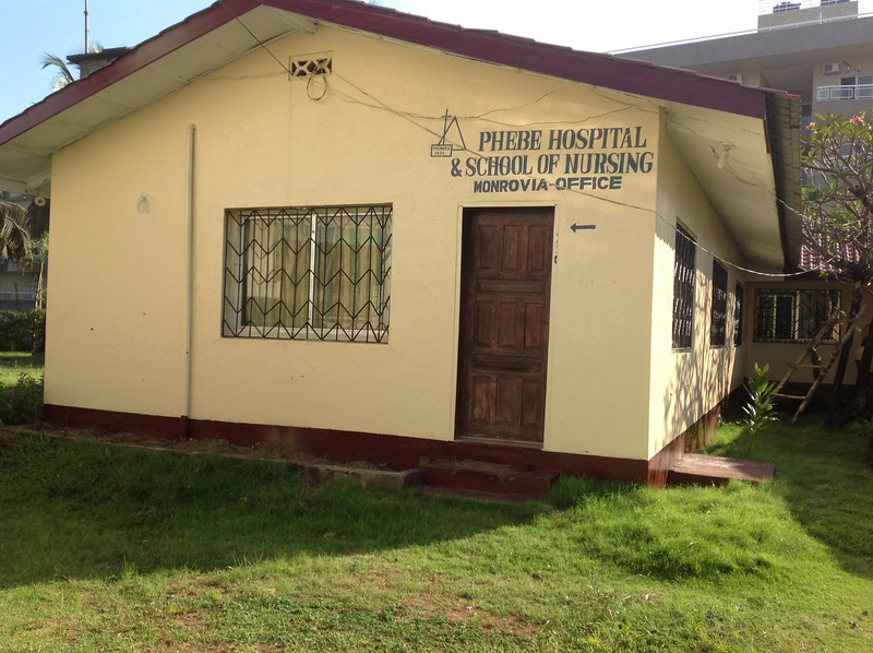 Phebe Hospital & School of Nursing office at the Lutheran Compound