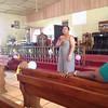 Leymah Gbowee at St. Matthew's parish giving greetings.
