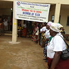 A joyful welcome through music and song were given by the women at St. Matthew's Parish, Monoria, Liberia