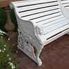Detail of bench in La Playa grounds.