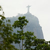 This is a veiw of Christ The Redeemer from below near the horse track.
