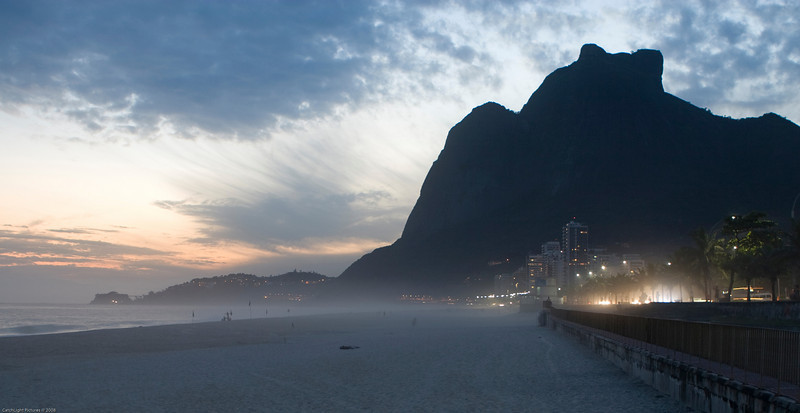 <h1>Misty Beach</h1><h4>Rio De Janeiro</h4>This was the beach just across the street from our hotel.