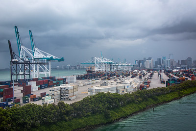 Gantry cranes at the Port of Miami