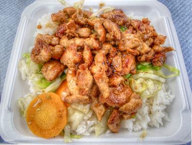 chicken teriyaki in food court